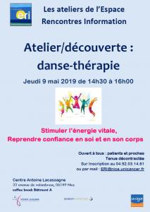 ATELIER DANSE THERAPIE 9 MAI 2019