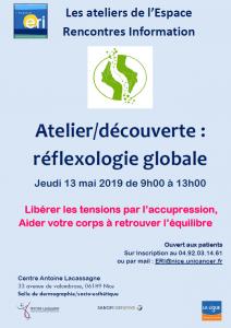 ATELIER REFLEXOLOGIE GLOBALE 13 MAI 2019
