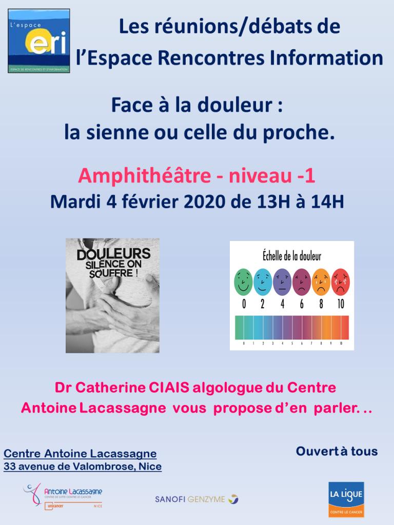 REUNION DEBAT FACE A LA DOULEUR 04 02 2020